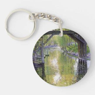 Guy Rose- The Old Bridge, France Single-Sided Round Acrylic Keychain
