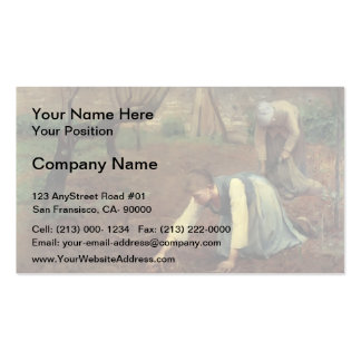 Guy Rose- The Potato Gatherers Business Card Template
