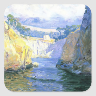 Guy Rose- Vista from Point Lobos Square Sticker