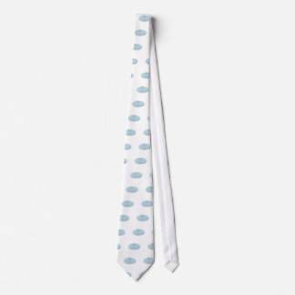 Guy Stand Up Paddle Tropical Island Oval Drawing Neck Tie