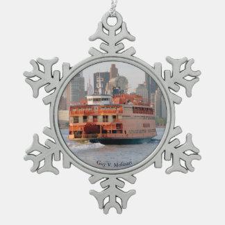 Guy V. Molinari ball or snowflake ornament