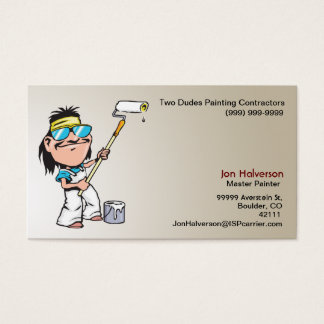 Guy With a Roller Painting Business Card