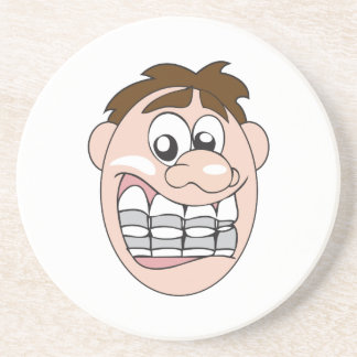 GUY WITH BRACES BEVERAGE COASTERS