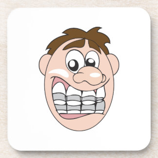 GUY WITH BRACES DRINK COASTERS