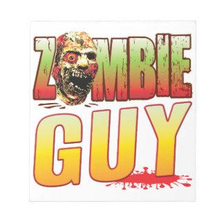 Guy Zombie Head Memo Notepad
