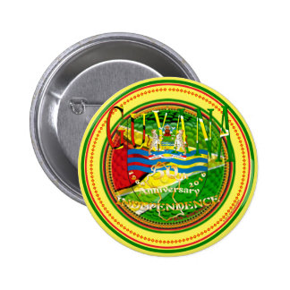 Guyana, 50.o aniversario feliz del ` Lo de la Pin Redondo 5 Cm