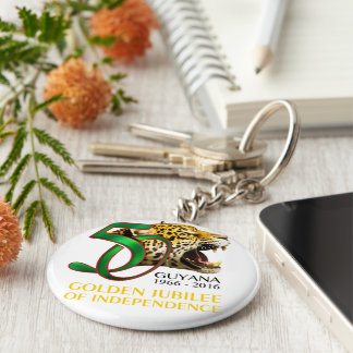 Guyana 50th Independence key chain