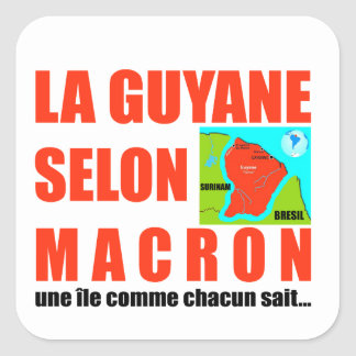 Guyana according to Macron is an island Square Sticker