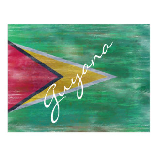 Guyana apenó la bandera tarjeta postal