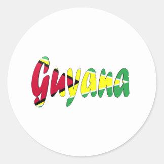 Guyana Classic Round Sticker