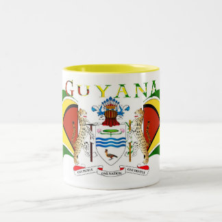Guyana_Coat Of Arms-558 Two-Tone Coffee Mug