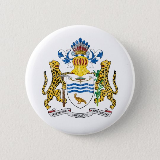 Guyana Coat Of Arms Button