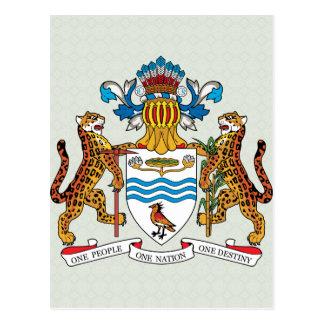 Guyana Coat of Arms detail Postcard