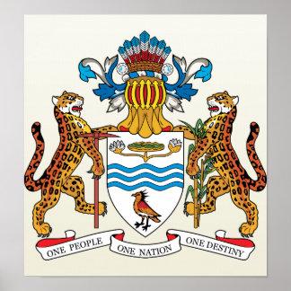 Guyana Coat of Arms detail Poster