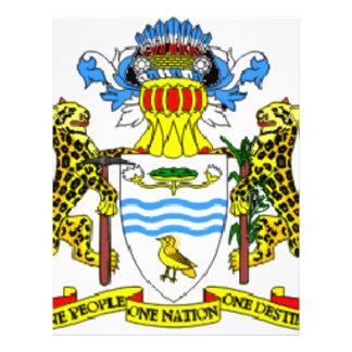 Guyana coat of arms flyer