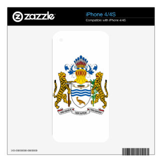Guyana Coat Of Arms Decal For The iPhone 4