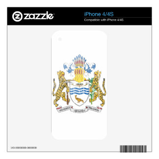 Guyana Coat Of Arms Skins For The iPhone 4S
