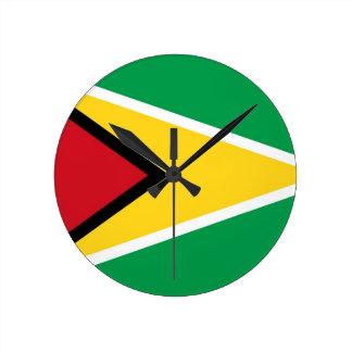 guyana country flag clock