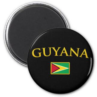 Guyana de oro imán redondo 5 cm
