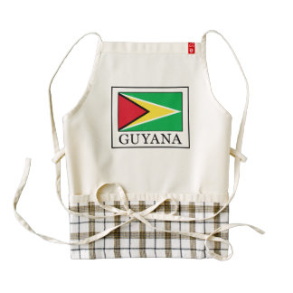 Guyana Delantal Zazzle HEART