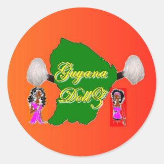 Guyana Dollz Classic Round Sticker