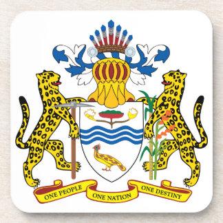 guyana emblem beverage coaster