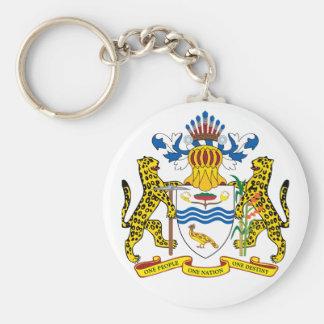 guyana emblem basic round button keychain