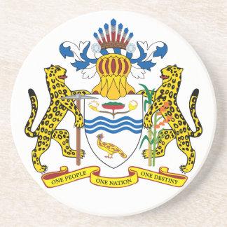 guyana emblem sandstone coaster