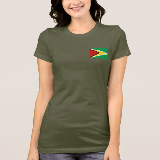 Guyana Flag and Map dk T-Shirt
