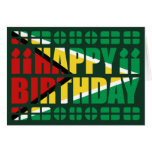 Guyana Flag Birthday Card