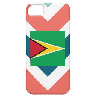Guyana Flag Box on Colorful Chevron iPhone 5 Cases