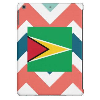 Guyana Flag Box on Colorful Chevron iPad Air Cases