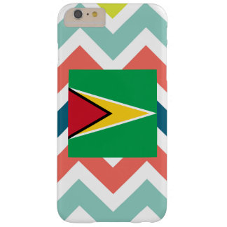 Guyana Flag Box on Colorful Chevron Barely There iPhone 6 Plus Case
