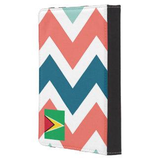 Guyana Flag Box on Colorful Chevron Kindle Case