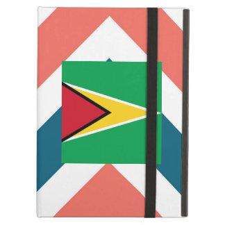 Guyana Flag Box on Colorful Chevron iPad Air Case