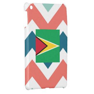Guyana Flag Box on Colorful Chevron iPad Mini Cases