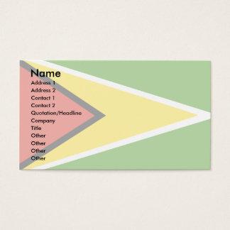 Guyana Flag Business Card