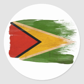 Guyana Flag Classic Round Sticker
