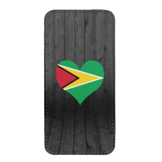 Guyana flag colored iPhone 5 pouch