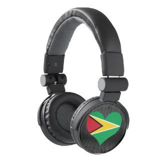 Guyana flag colored headphones