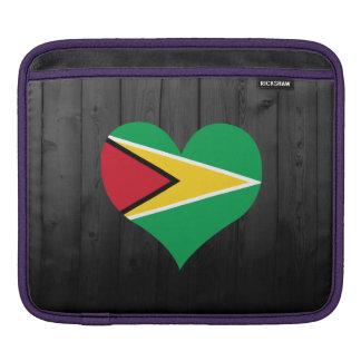 Guyana flag colored iPad sleeves