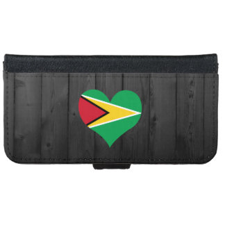 Guyana flag colored iPhone 6 wallet case