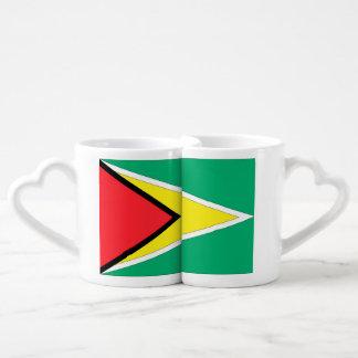Guyana Flag Couples' Coffee Mug Set