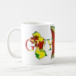 Guyana Flag_Digital Art_Mug Taza Básica Blanca