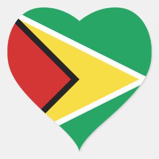 Guyana Flag Heart Sticker