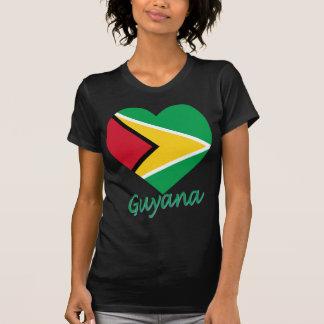 Guyana Flag Heart Shirts