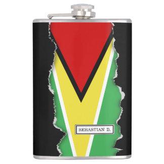 Guyana Flag Hip Flask