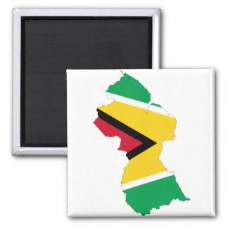 Guyana Flag Map GY Magnet