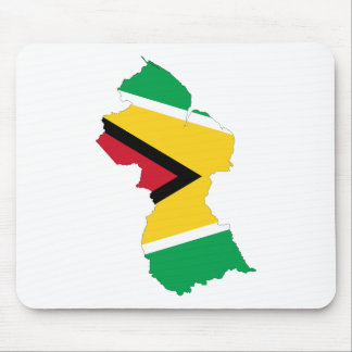 Guyana Flag Map GY Mouse Pad