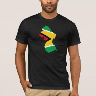 Guyana Flag Map GY T-Shirt